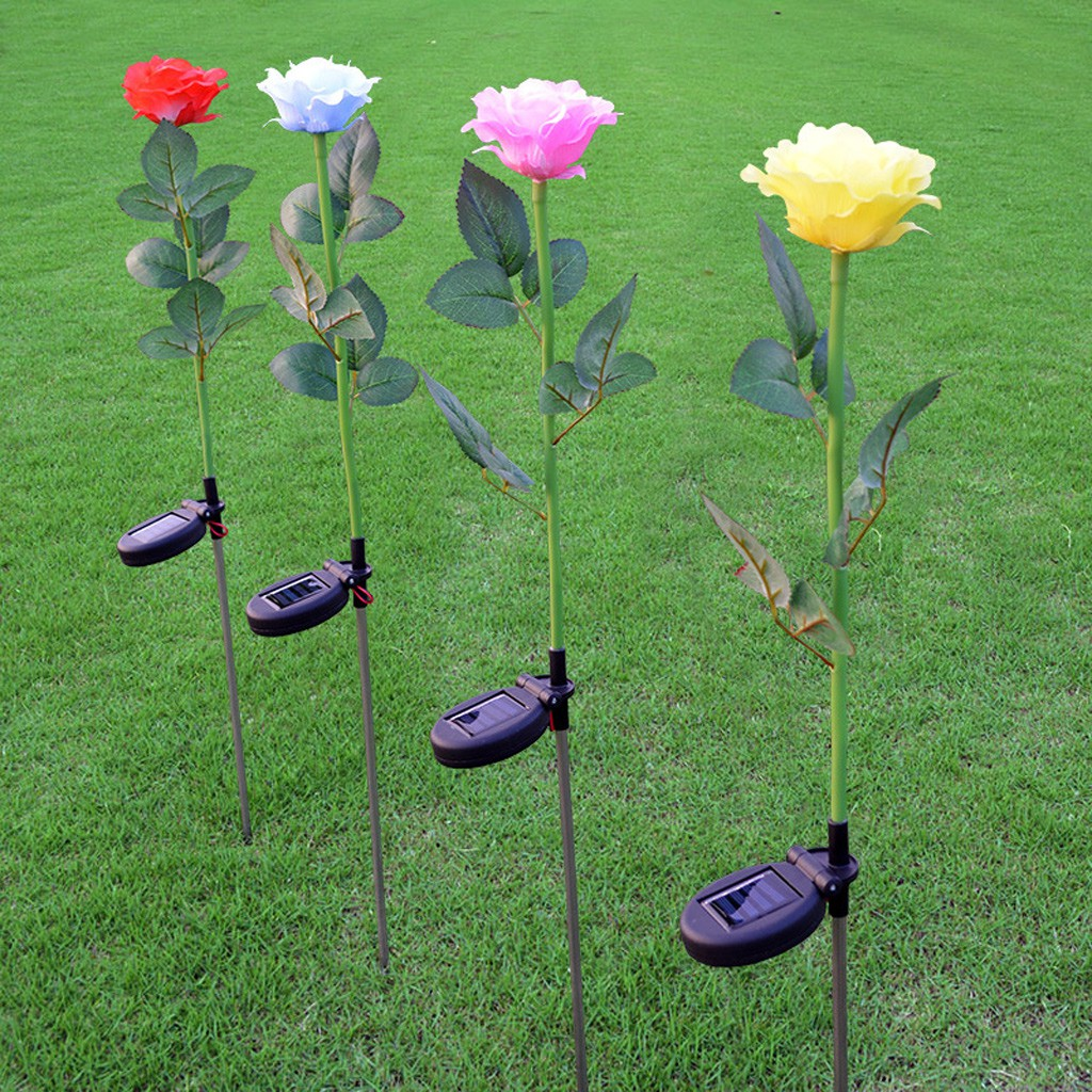 Lampu Led Bentuk Bunga Mawar Tenaga Surya Untuk Outdoor Taman Solar Powered Garden Decoration Light 100 12 Meter Hias Shopee Indonesia