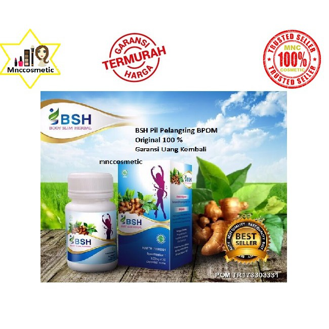 TERBAIK BSH/ BODY SLIM HERBAL/BODY SLIM CAPSULES/ GMP SLIMMING/ NEW SEGEL | Shopee Indonesia