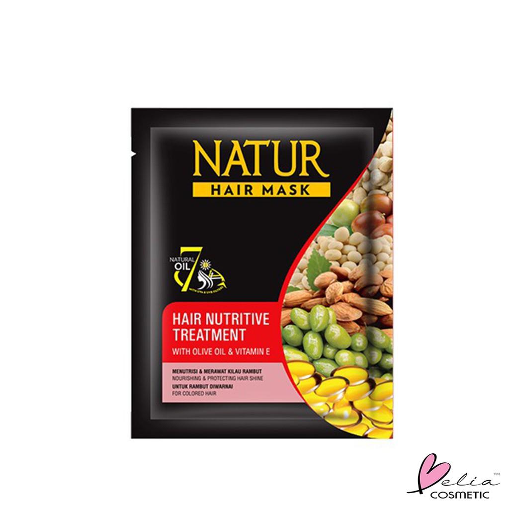 ❤ BELIA ❤ NATUR Hair Mask   Hair Vitamin   2 in 1 Shampoo & Hair Tonic(✔️BPOM)-N.HMask-Olive MERAH