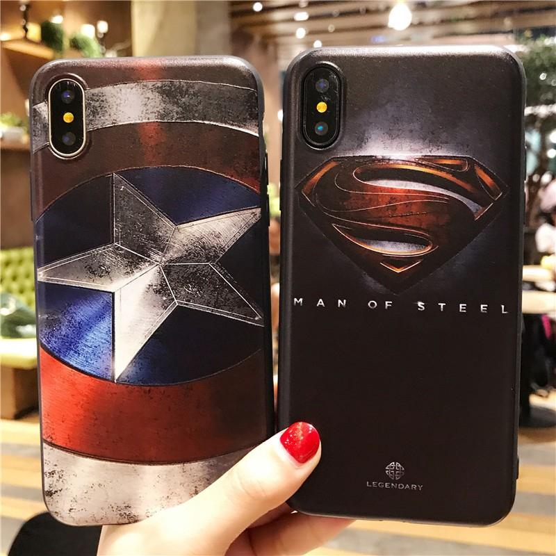 OPPO A7 A3s A83 F1s F5 F9 A37 A37F A39 A57 Vivo Y91 Y93 Y95 V11 Pro Superman Captain America Case   Shopee Indonesia