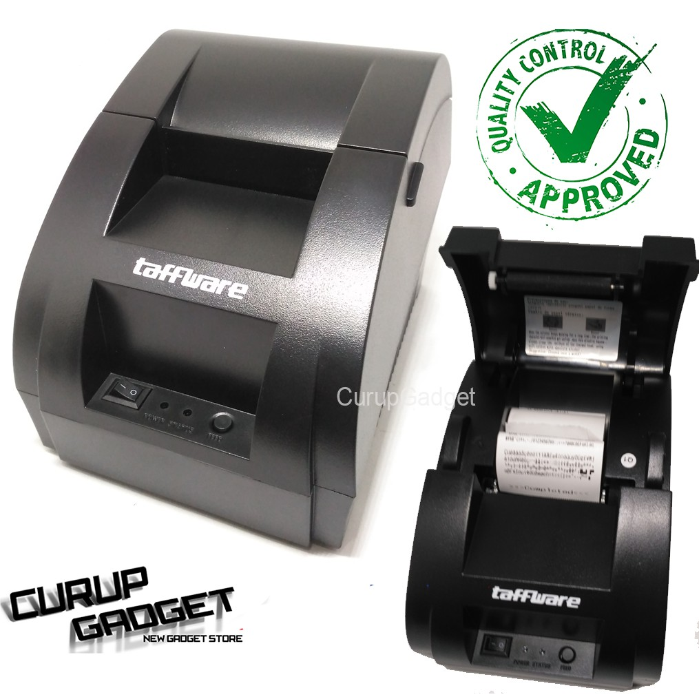 Taffware Pos Thermal Receipt Printer 575mm Zj 5890k Black Daftar Xprinter Xp Q200ii 80mm Kasir Auto Cutter
