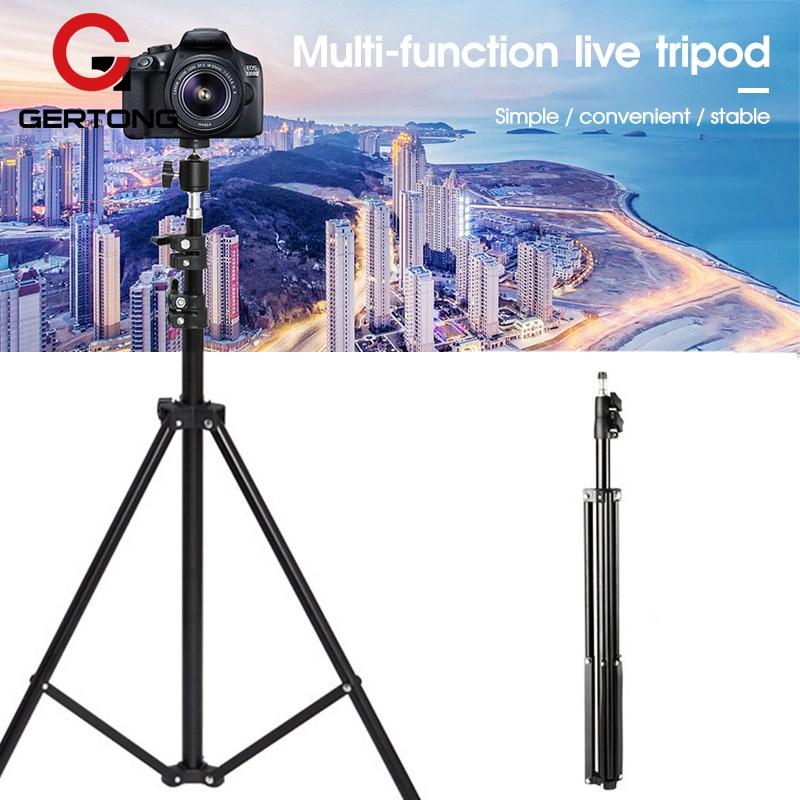 Tripod Kamera DSLR Portable Multifungsi Bahan Alloy Ukuran 2.1m
