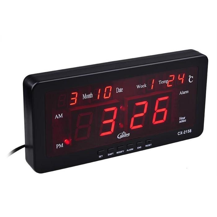 Jam Dinding Alarm Digital dengan Lampu LED 8d94d1d8be