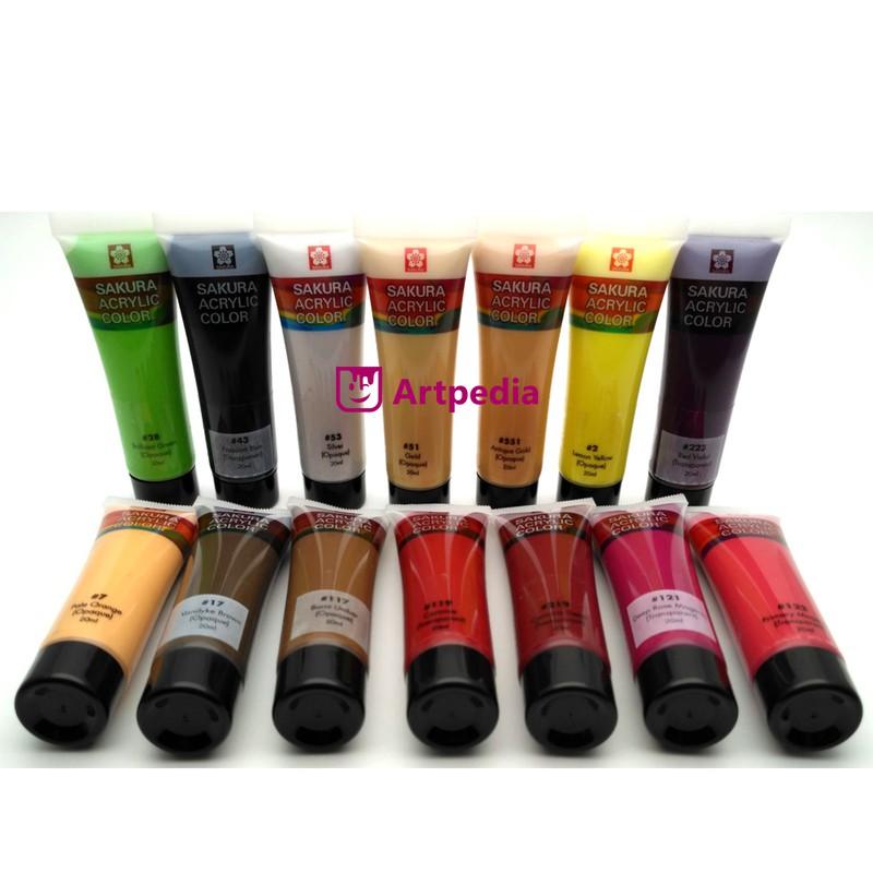 Harga Grosir Cat Akrilik Sakura 20ml Acrylic Colour Tersedia 57 Warna Terlaris Dan Termurah Shopee Indonesia