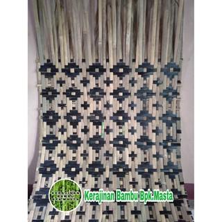 kerajinan anyaman bambu bilik kulit bambu dekorasi hias