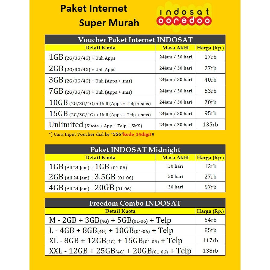 Promo Paket Internet Indosat Murah dan Freedom Combo