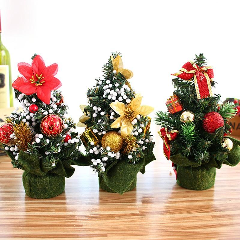 Pohon Natal Mini Tabel dekorasi Xmas ornamen dekorasi untuk rumah toko jendela | Shopee Indonesia
