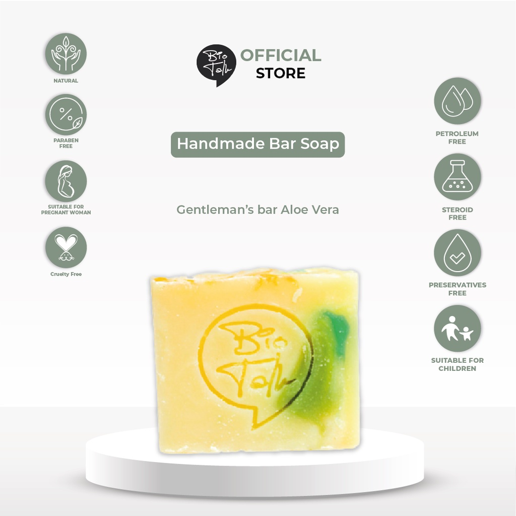 BioTalk Sabun Shampoo Natural Herbal | Gentleman's Bar Shampoo Soap | Kulit Normal |120 gram-1