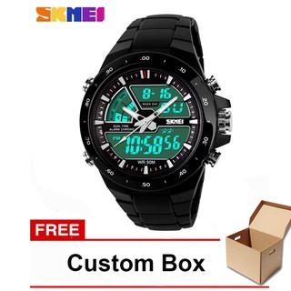 Jam Tangan Pria / SKMEI 1016 Men / Digital LED + Analog / Dual-Time Anti Air 50M