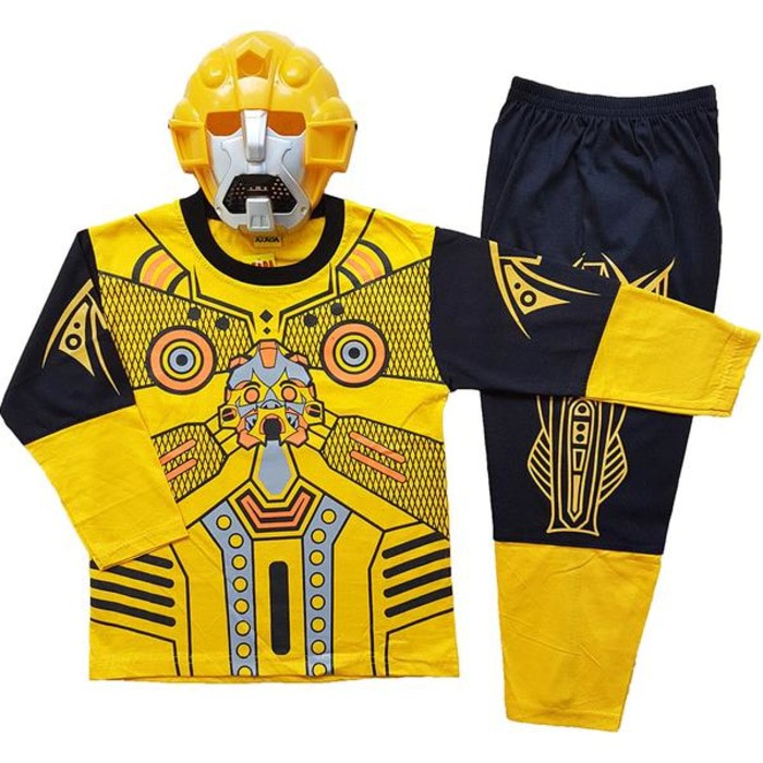 fc7a633d4 Baju Kostum Anak Superhero Bumble Bee - Baju Topeng Karakter Bumble ...