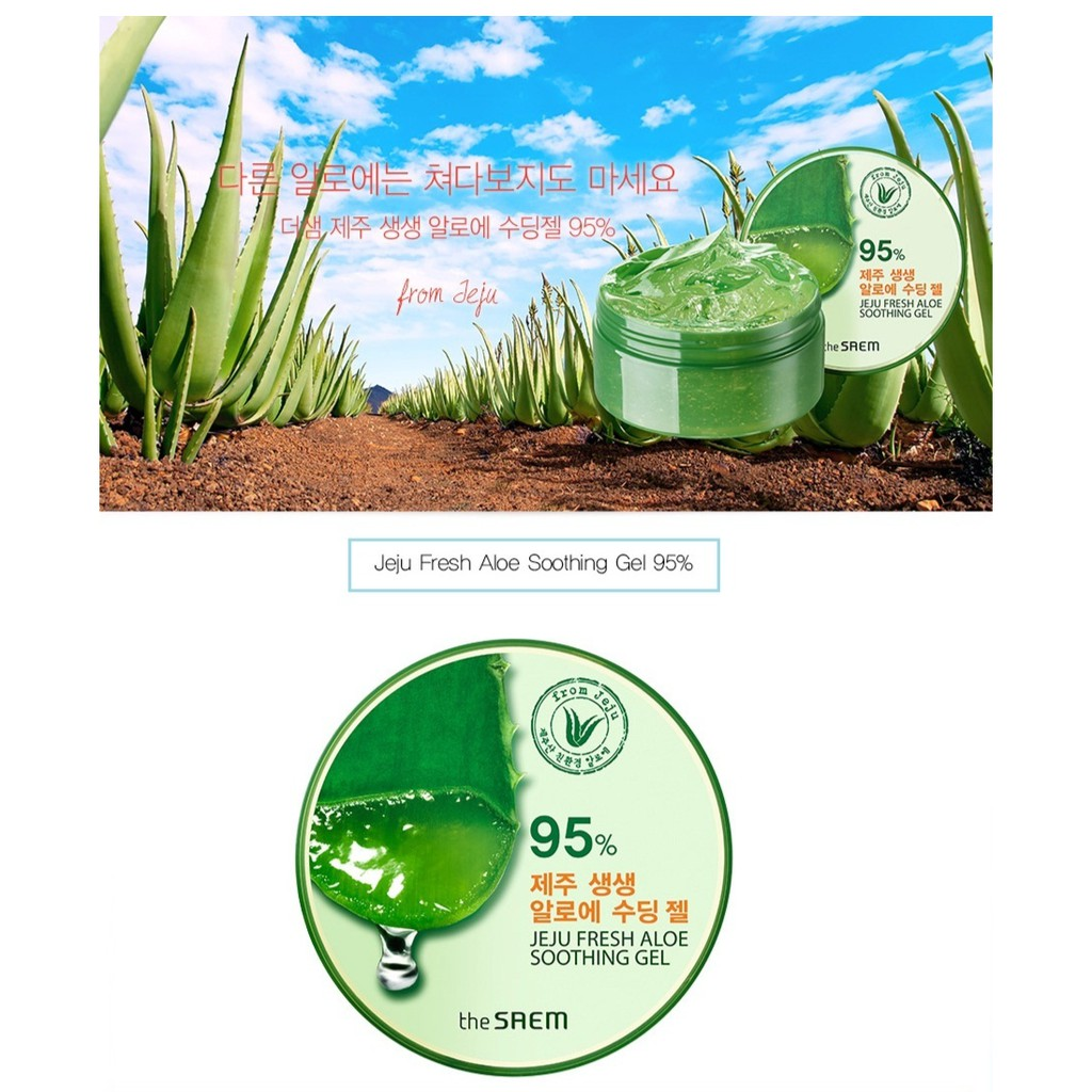 The Saem 99 Jeju Fresh Aloe Soothing Gel Original Share 10 30ml Shopee Indonesia