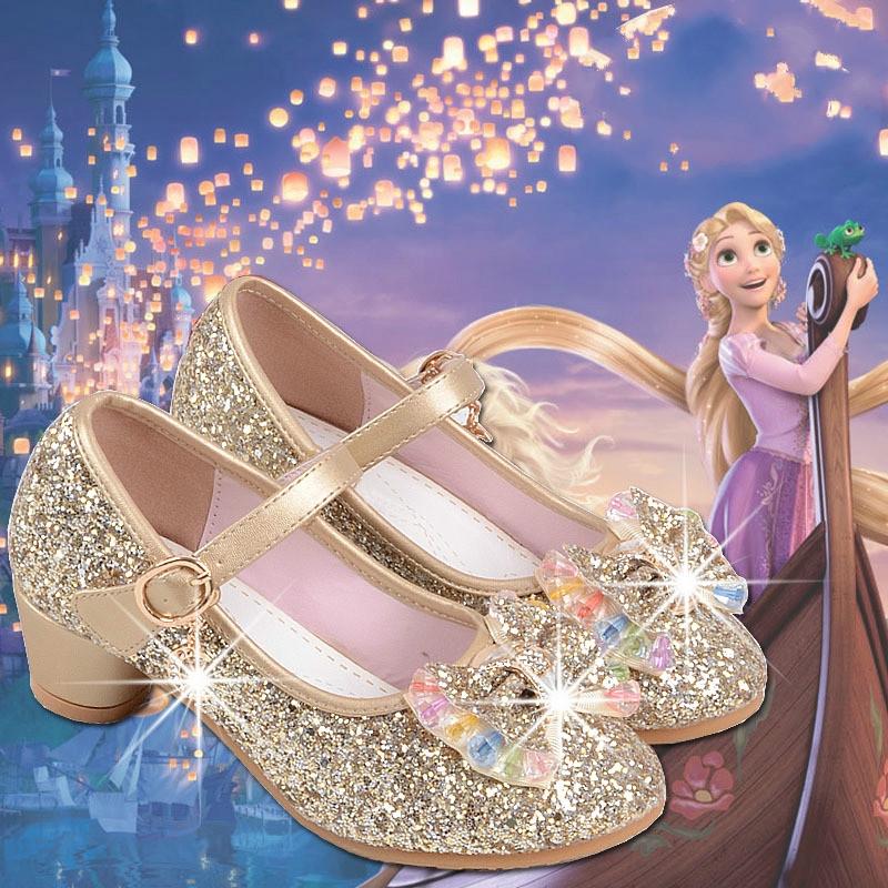 Sealynn Sepatu Anak Perempuan Princess Dance Hak Tinggi Sepatu