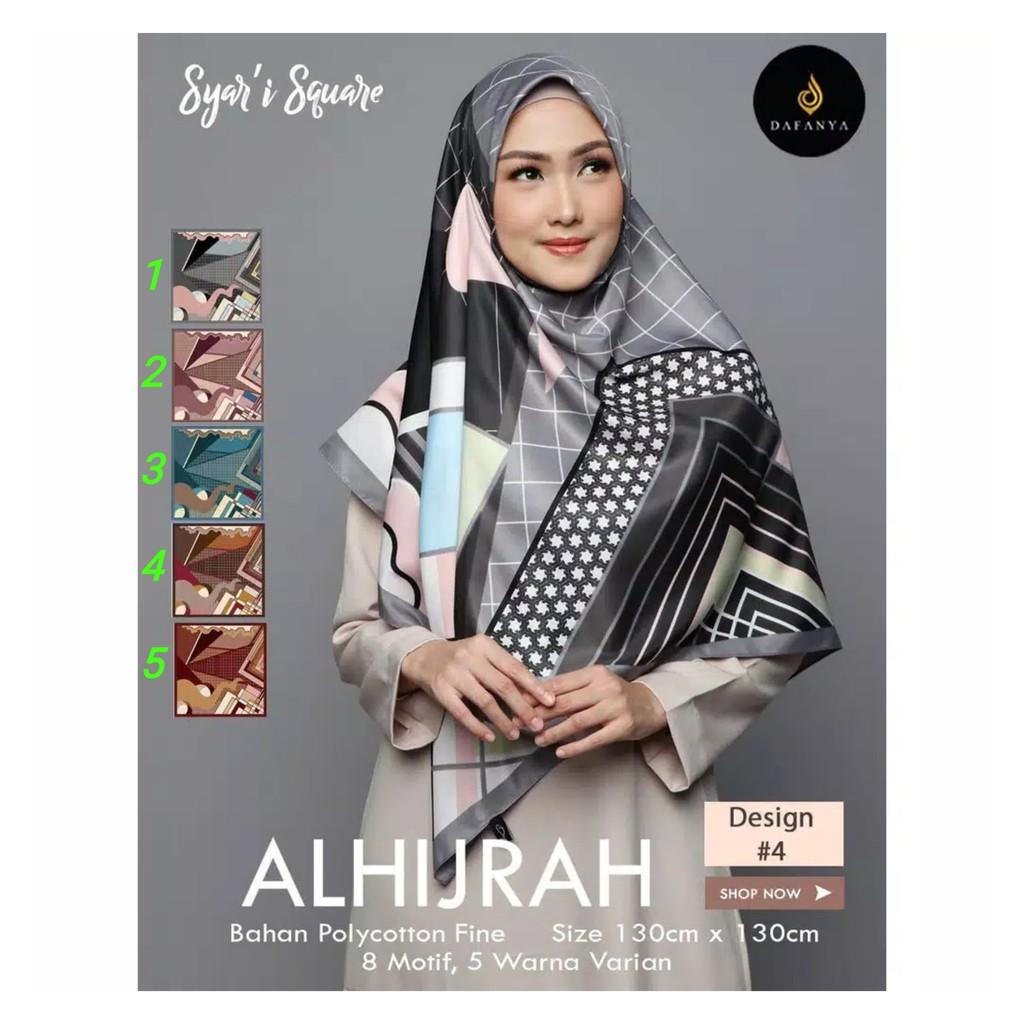 Hijab Segi Empat Syari Motif Terbaru - Kerudung Segi Empat Polos Instan -  Jilbab Segiempat 9x9cm