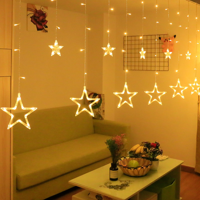 Led Star Lights Lanterns Flashing Lights String Lights Sky Full Of Stars Lights Net Red Live Broadcast Room Bedroom Curtain Decoration Layout Shopee Indonesia