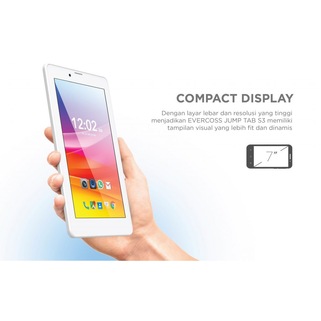 EVERCOSS AT7H PLUS TAB JUMP S3 TV ANALOG RAM 512MB ROM 4GB TABLET ANDROID | Shopee