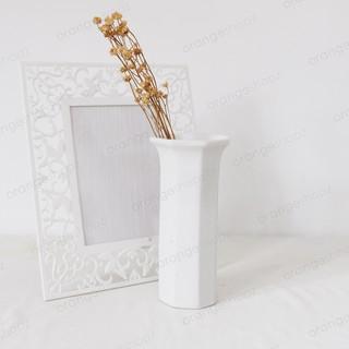vas bunga putih panjang vas keramik putih dekorasi rumah