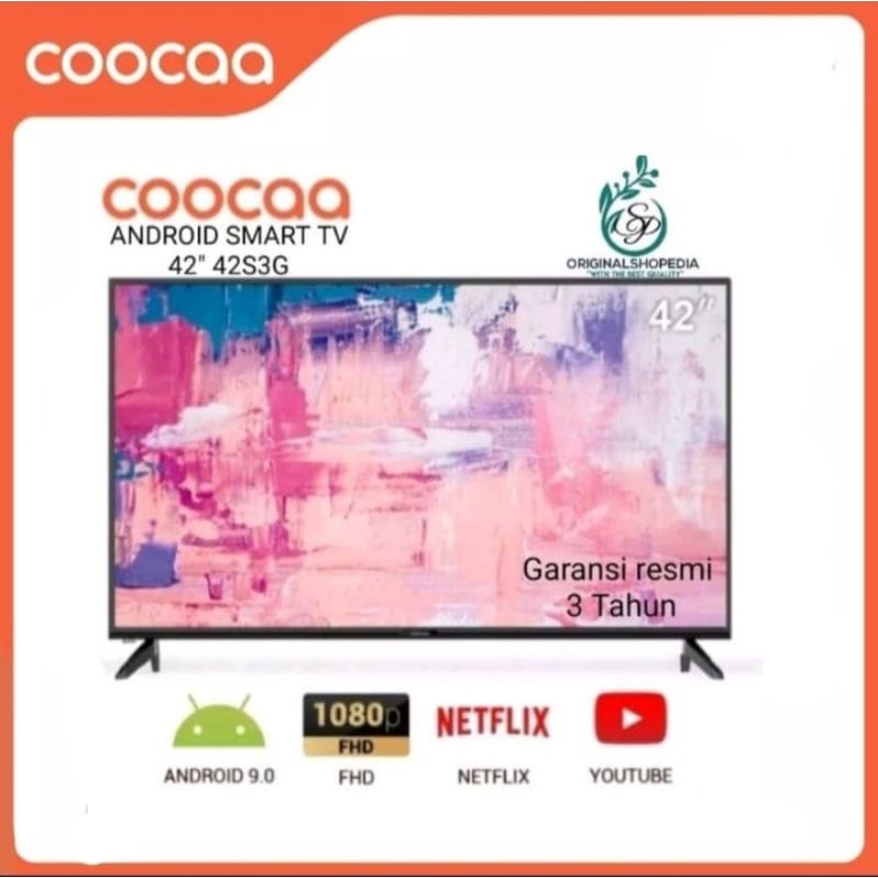 "COOCAA SMART TV 42 INCH ANDROID LED TV COOCAA 42"" 42S3G FHD WIFI"