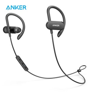 Anker SoundBuds Slim Wireless Headphones Bluetooth 4.1 Lightweight Stereo IPX5 Earbuds with Magnetic Connection NANO Coating Sweatproof Sports Headset with Metallic Housing Built-in Mic Black