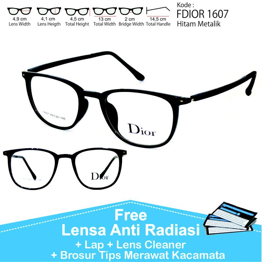 frame kacamata minus wanita (frame+lensa) dior 9178 anti radiasi ... 832103b4d1