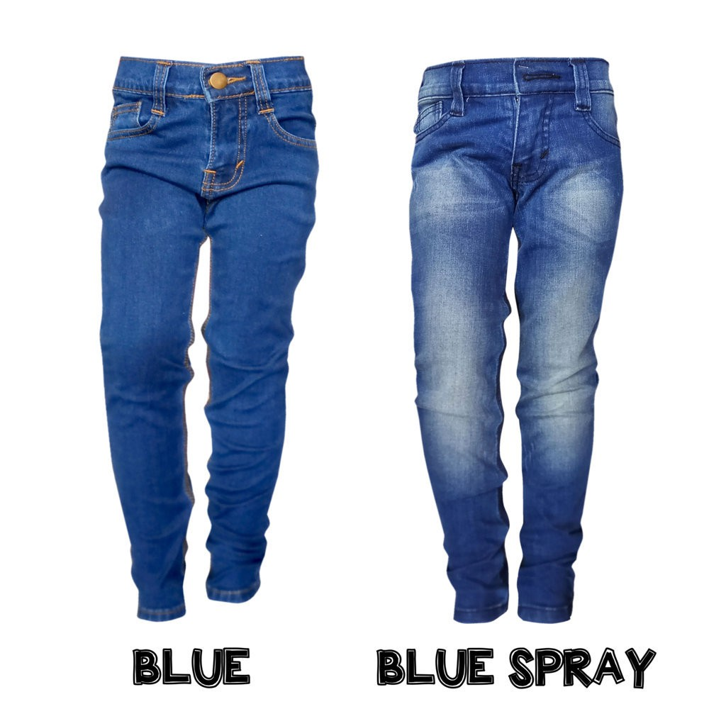 Celana Jeans Cutbray Bootcut Flare Loose Promo Grosir Murah Slim Blue Helderdenim Shopee Indonesia