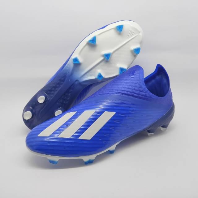 Sepatu Bola Adidas X 19 Fg Blue White Shopee Indonesia