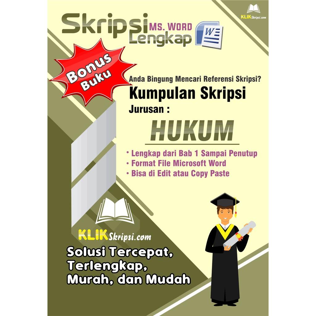 Skripsi Hukum Plus Link Download Shopee Indonesia