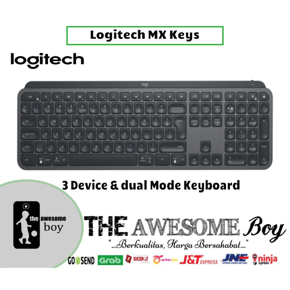 Logitech Mx Keys Multi Device Dual Mode Keyboard Mx Master 3 Mouse Shopee Indonesia