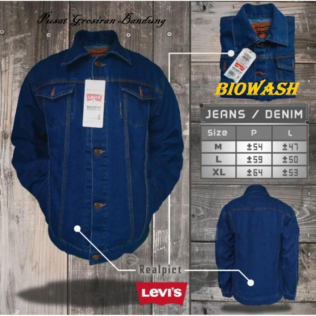 Jaket Jeans Levis Biowash | Jaket Levis | Jaket Cowok | Jaket Pria | Jaket Denim | Jaket Jeans Murah | Shopee Indonesia