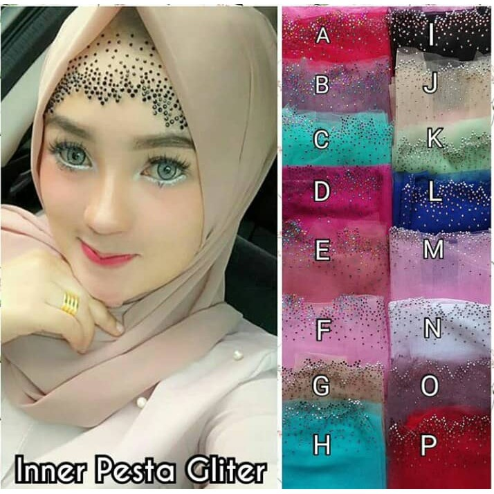 Inner Pesta Gliter payet / Inner Tile Payet Mewah / Inner Pesta Gliter Terbaru | Shopee Indonesia