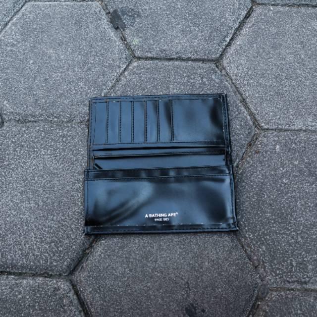 Bape Wallet Leather Black Appendix Original