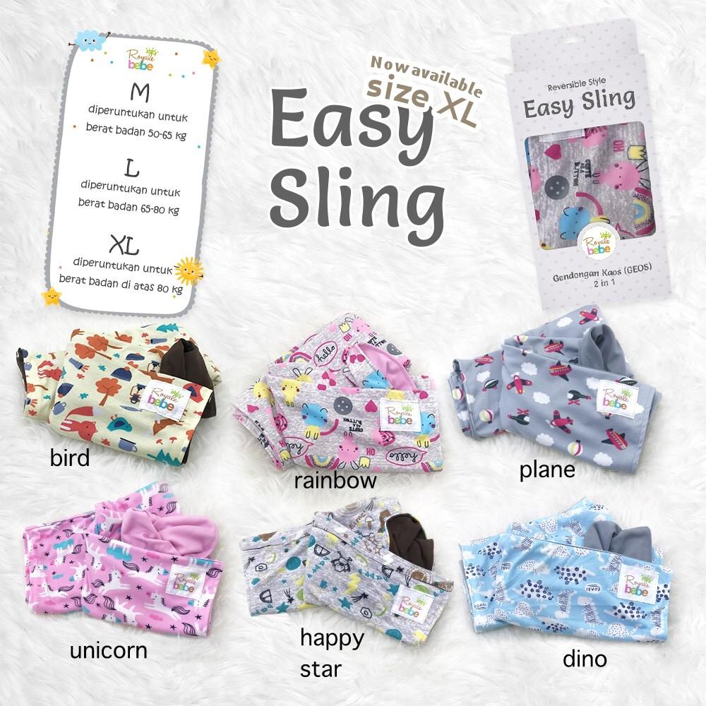 Royale Bebe Easy Sling Geos Anak Gendongan Shopee Indonesia Special Edition Petite Mimi Kaos Simple