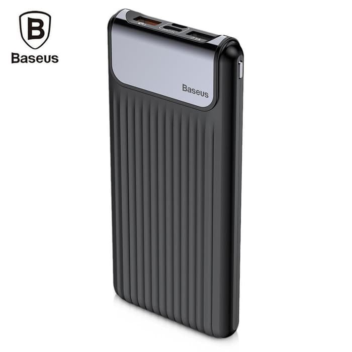 Baseus Thin Digital 10000mAh Power Bank QC 3.0 Dual USB