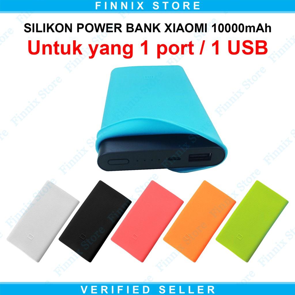Silicone Case Xiaomi Mi Power Bank 10000mah Versi 2 Untuk 1 Port Powerbank 10000 Mah Biru Free Shopee Indonesia