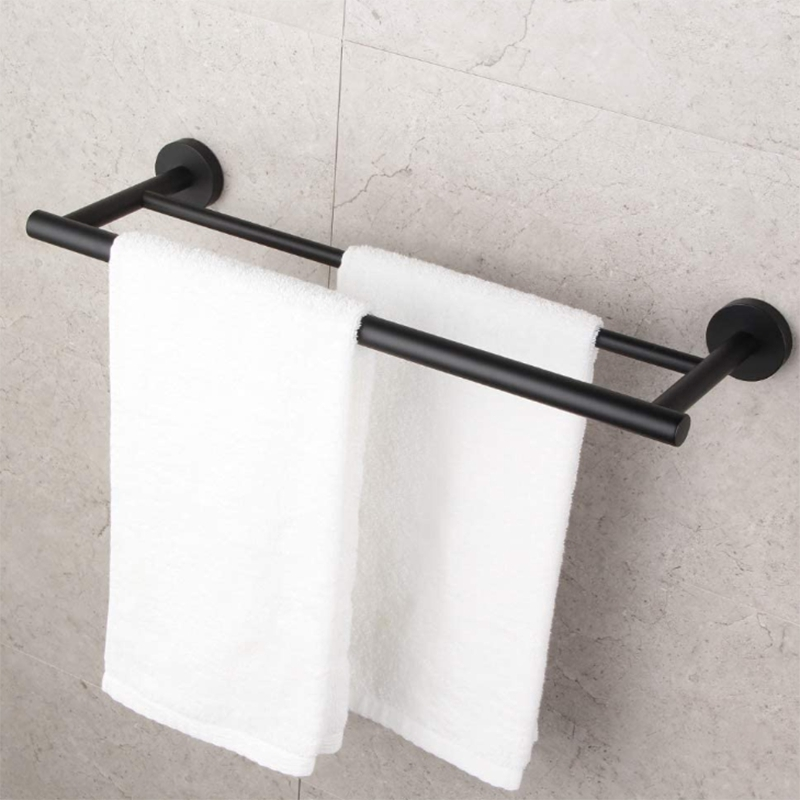 In Stock Small Kitchen Towel Rack 304 Stainless Steel Cabinet Towel Bar Wall Hanging Bathroom Organizer Shopee Indonesia