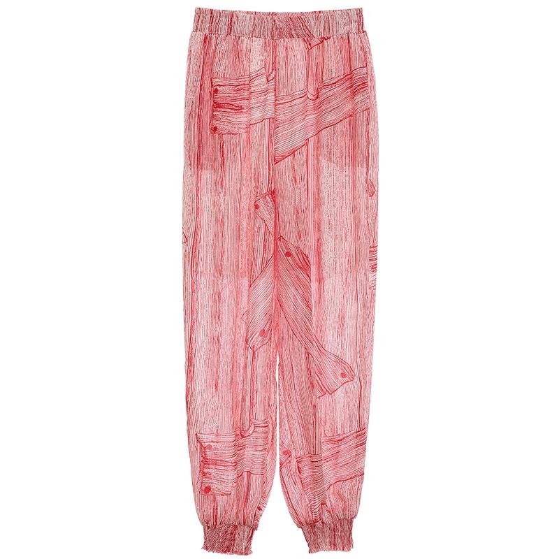 Men Linen Yoga Pant Oversize Thai Beach Trouser Bottom Harem Striped Pant Summer