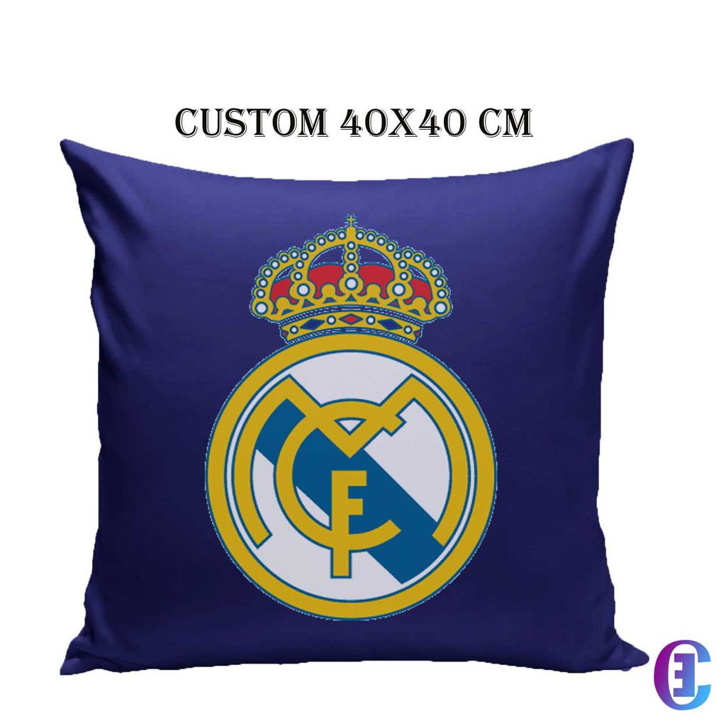 Bantal Sofa Club Bola REAL MADRID Custom Printing