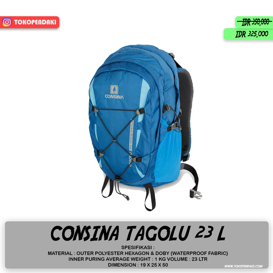Consina Pack Cover 40 Ltr Daftar Harga Terkini Dan Terlengkap Backpack Harbour Rain Bag Liter Day Semi Carrier Tas Gunung Shopee Indonesia