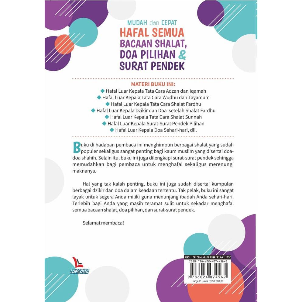 Buku Mudah Dan Cepat Hafal Semua Bacaan Shalat Doa Pilihan Surat Pendek