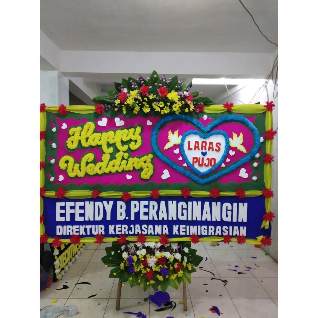 Karangan Bunga Papan Bunga Ucapan Pernikahan Shopee Indonesia