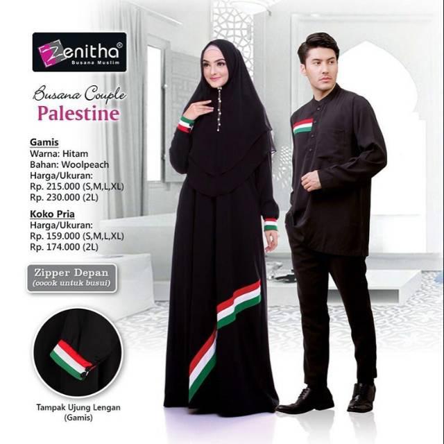 Baju Gamis Palestina Pria Gamis Kombinasi