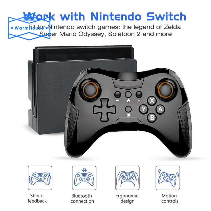 Controller For Nintendo Switch Wireless Pro Controller 6 Axis Switch Remote Supports Motion Control