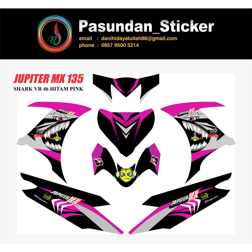 Decal sticker yamaha jupiter mx king movistar shopee indonesia