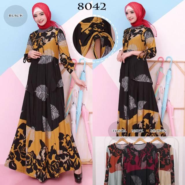 Baju Gamis Wanita Terbaru Gamis Jersey Belmont Gamis Jumbo XXL 6991 | Shopee Indonesia