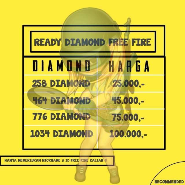 Promo Diamond FF Murah Via ID[Legal100%]