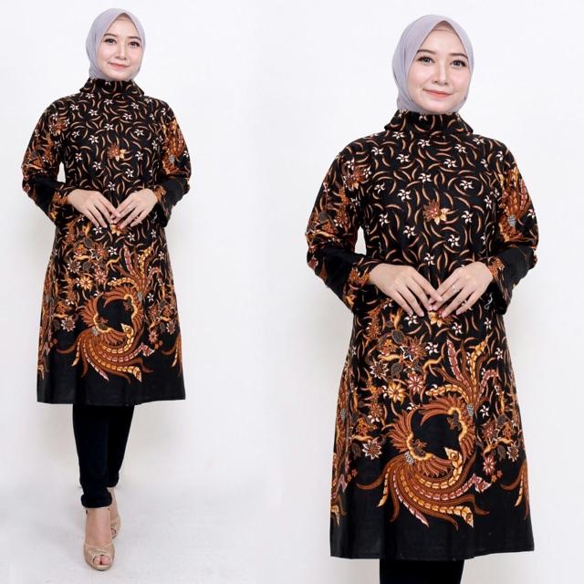 Batik Modern Wanita 2020 Model Baju Batik Kerja Atasan Wanita Terbaru Shopee Indonesia