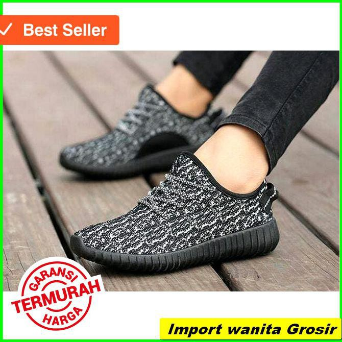 HOT SALE SLIP ON TALI ADS YEEZY CORAK HITAM SOLID - LORENG HITAM 4c88a9ad04