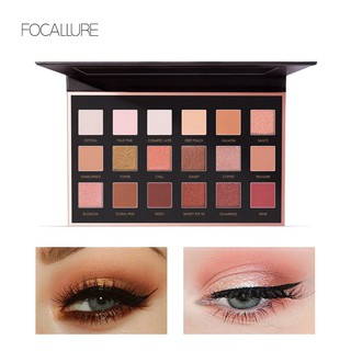 Focallure Palet Eyeshadow 18 Warna Matte Berkilau thumbnail