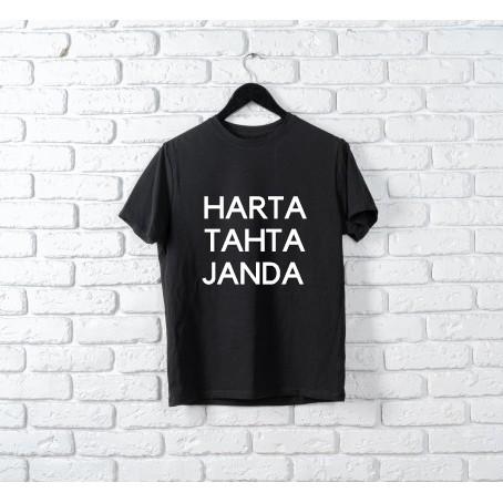 Harta Tahta Janda Kaos Quotes Lucu Simple Lengan Pendek Terbaru Shopee Indonesia