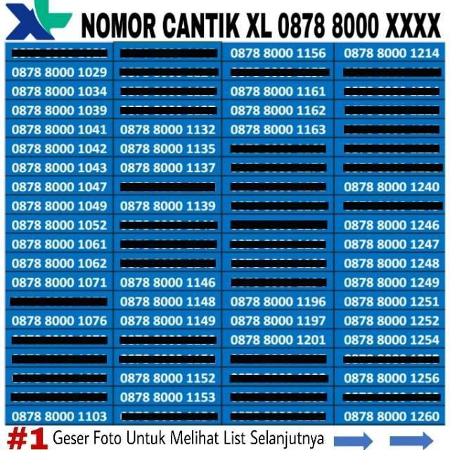 Nomor Cantik XL Bebas Seri Triple - Double AA - Double AB - Seri Tahun - Urut 4 Angka   Shopee Indonesia
