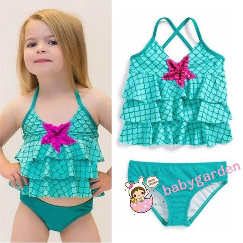 3f85d0fcd672e Cute Newborn Infant Baby Girl Floral Bikini Set Swimsuit Swimwear Beach Suit  | Shopee Indonesia